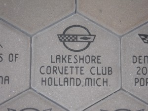Our Club′s Brick at National Corvette Museum